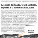 Sconnessi 16: il foglio con gli appuntamenti del Knulp (estate 2018)